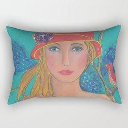 Ruby Red Rectangular Pillow