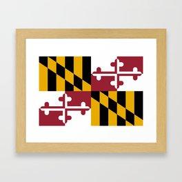 Maryland State Flag, Hi Def image Framed Art Print