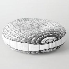 Wire Planet2 -BG white- Floor Pillow