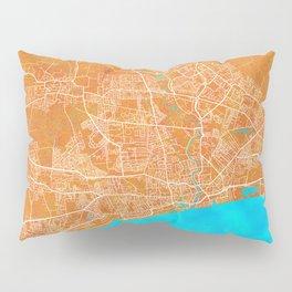 Kingston upon Hull, England, Gold, Blue, City, Map Pillow Sham