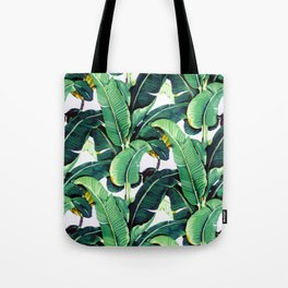 Tropical Banana leaves pattern Tote Bag