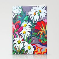 daisies Stationery Cards featuring Daisies by marlene holdsworth