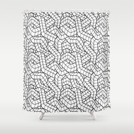 Ducts White Shower Curtain