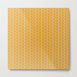 Leaf Wheaten Metal Print