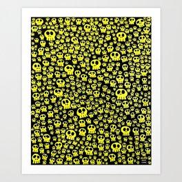 Calaveras Fluor Art Print