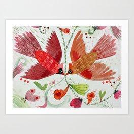 Cardinal Duo II Art Print
