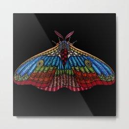 Shimmering Moth Metal Print