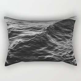 GRAYSCALE - PHOTO - OF - BODY - OF - WATER - PHOTOGRAPHY Rectangular Pillow