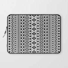 Aztec Essence Pattern Black on White Laptop Sleeve