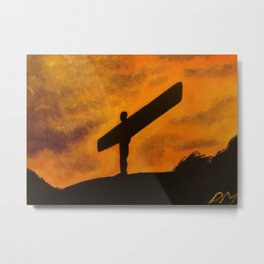 Angel of the North STAND STRONG Metal Print