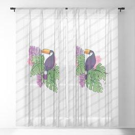 Tropical Toucan Design Sheer Curtain
