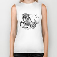 capricorn Biker Tanks featuring Capricorn by Anna Shell
