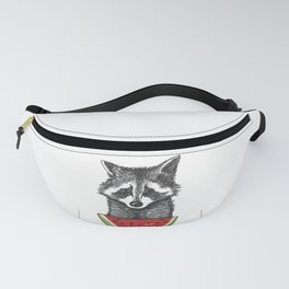 Racoon and watermelon Fanny Pack
