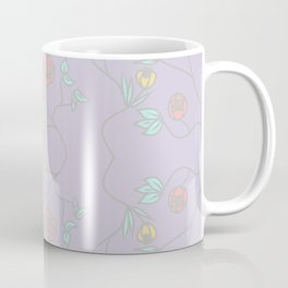 Lavender Garden Floral Coffee Mug