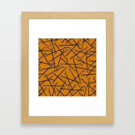 Bobby Pins Scattered Framed Art Print