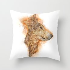 Wolf Flare Throw Pillow
