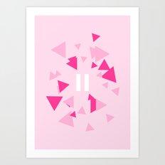 Opposite III Pause Pink Art Print