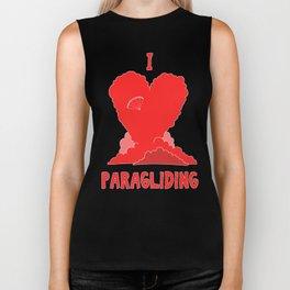 I Love Paragliding Biker Tank