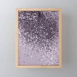 Sparkling Lavender Lady Glitter #2 #shiny #decor #art #society6 Framed Mini Art Print