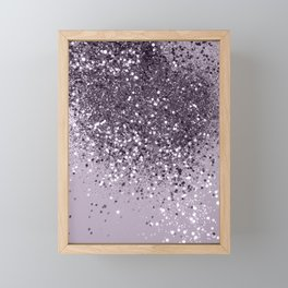 Sparkling Lavender Lady Glitter #2 #shiny #decor #art #society6 Framed Mini Art Print