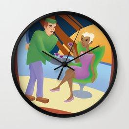 Retro Futurism Poster Wall Clock
