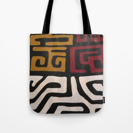 African Mudcloth Print Tote Bag