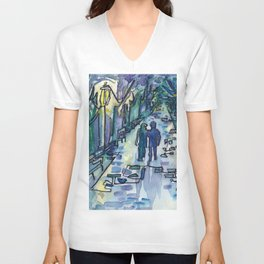 Lovers in the Park Unisex V-Neck
