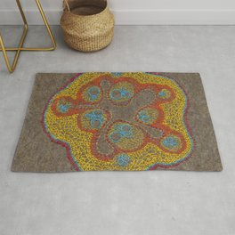 Growing - Cucumis - plant cell embroidery Rug