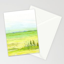 Green meadow Stationery Cards