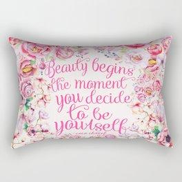 be yourself.  Rectangular Pillow