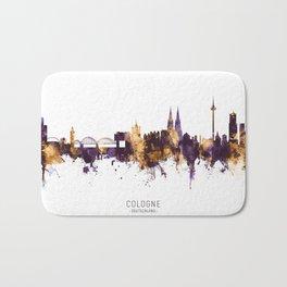 Cologne Germany Skyline Bath Mat