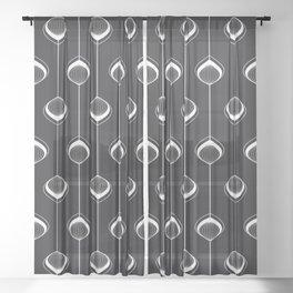Peacock-Lampions Sheer Curtain
