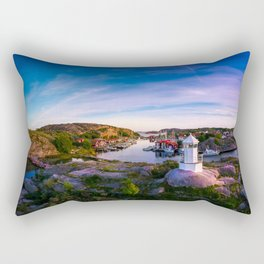 Sunset over old fishing port - Aerial Photography Rectangular Pillow