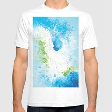 Abstract painting White MEDIUM Mens Fitted Tee