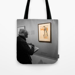 Old man and Schiele Tote Bag
