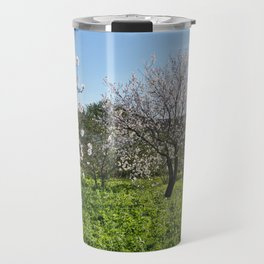Almond trees in Portugal Travel Mug