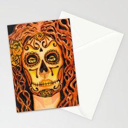 Autumnal Dia de los Muertos Stationery Cards