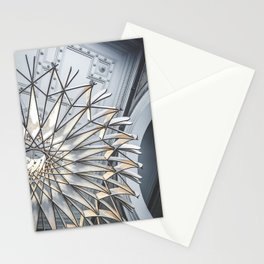 Wooden lamp in Barcelona Stationery Cards