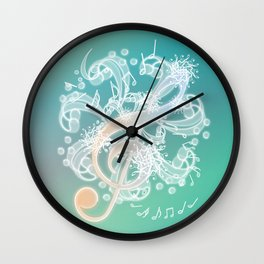 Music Notes - Crystal Wall Clock