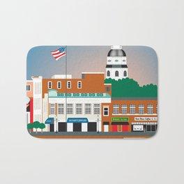 Annapolis, Maryland - Skyline Illustration by Loose Petals Bath Mat