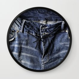 Blue Jeans Never Goes Out Of Style Wall Clock