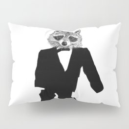 Twisted Raccoon Pillow Sham