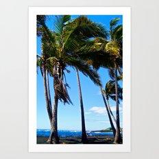 Hawaii Palms Art Print