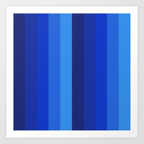 Gradient Shades Of Blue Vertical Stripes by candisekatt