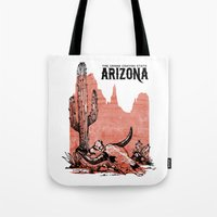 arizona Tote Bags featuring Arizona by Krikoui