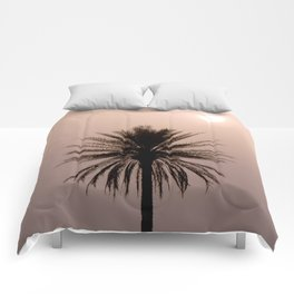 Misty Sunrise with Palm Tree Comforters