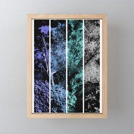 Old Tree in Blue and Gray Digital Art Coachella Valley Wildlife Preserve Framed Mini Art Print