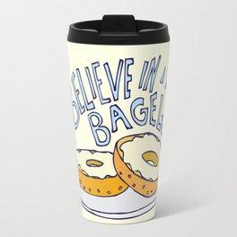 I Believe in Bagels Travel Mug