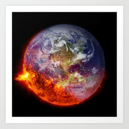 Global Warming Climate Change Art Print