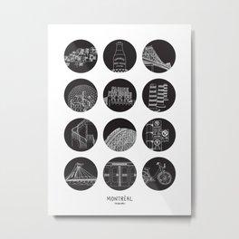 Montréal Highlights Metal Print